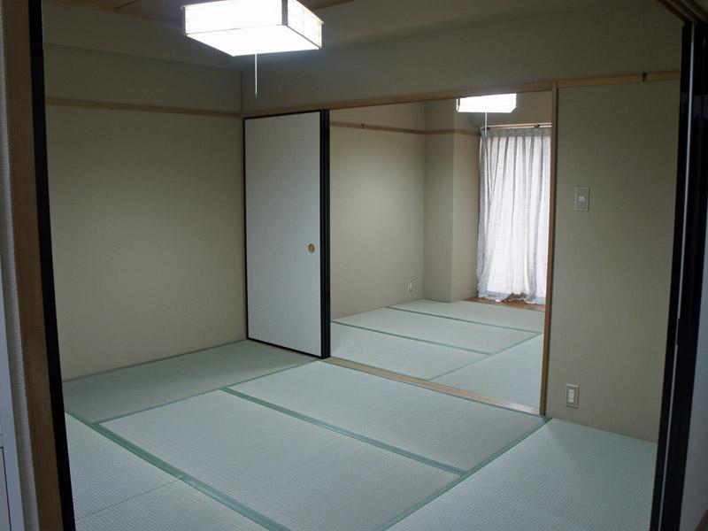 二間続きの和室