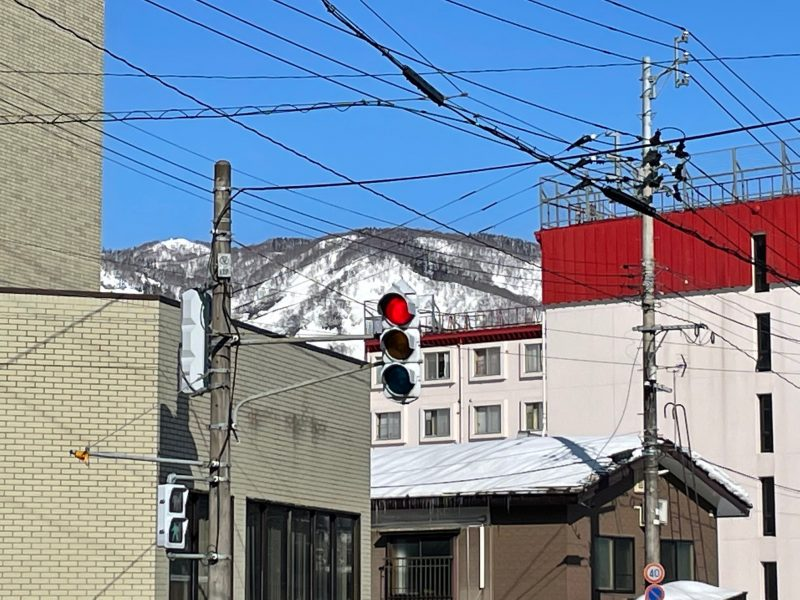 雪国の信号機
