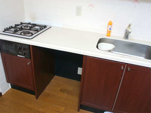 広いスペースがあるキッチン
