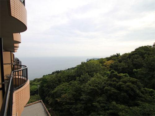 左側に海を望みます。
