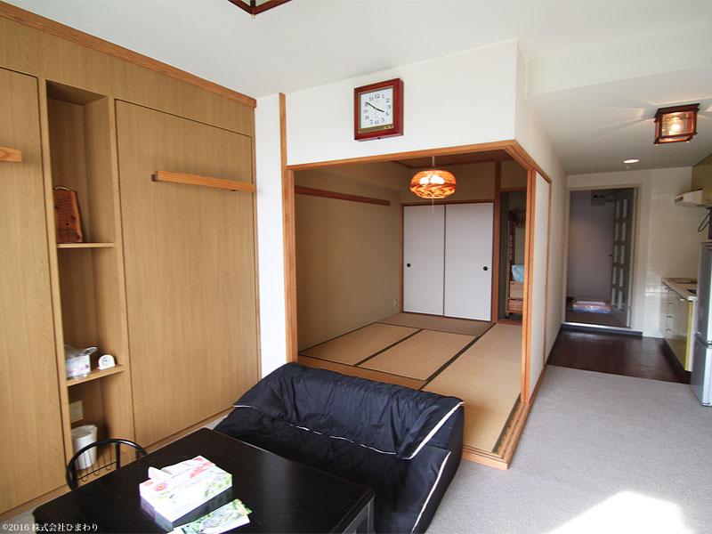 和室には収納があります。
