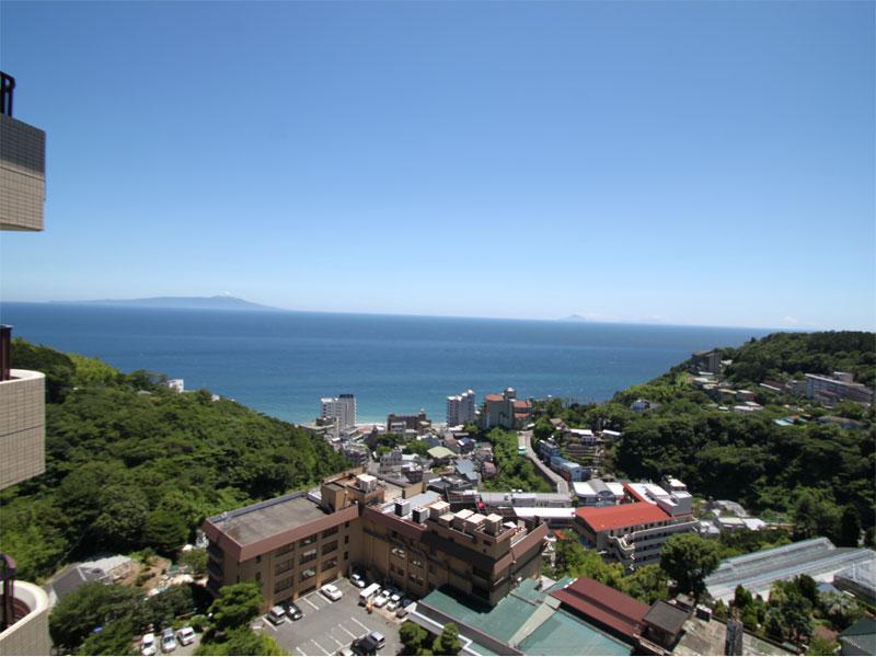 伊豆大島を望む眺望