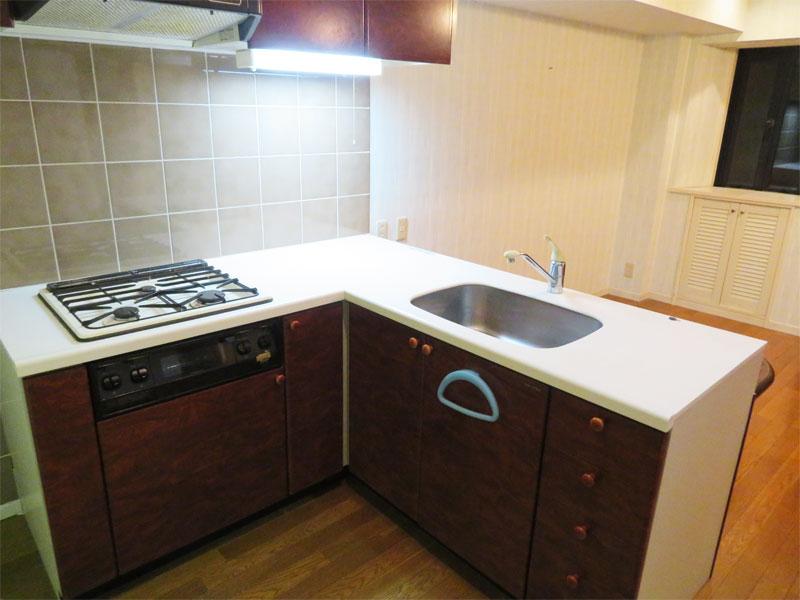 L字型のキッチン