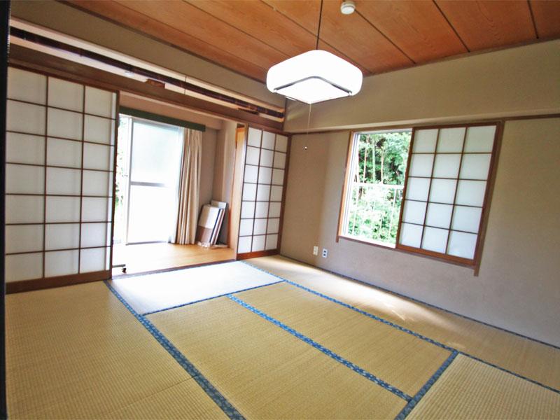 和室8畳は二面採光広縁付き