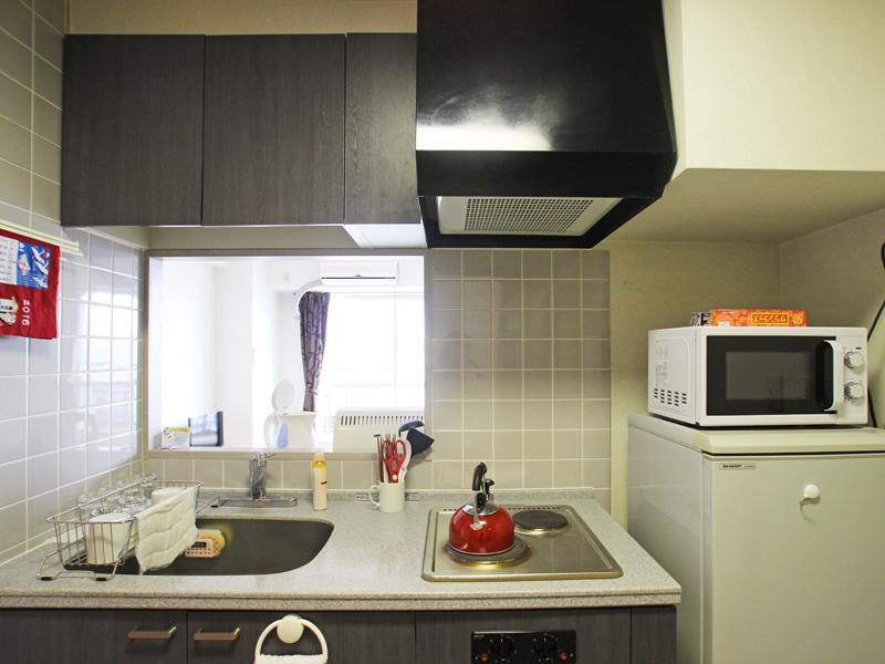 採光が入るキッチン