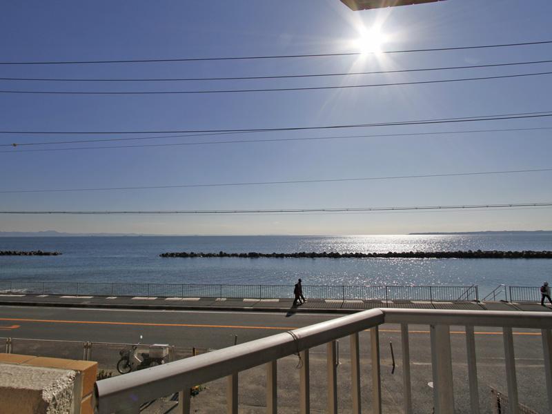 眺望 海まで徒歩1分です