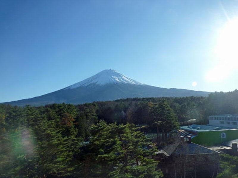 お部屋から富士山を一望