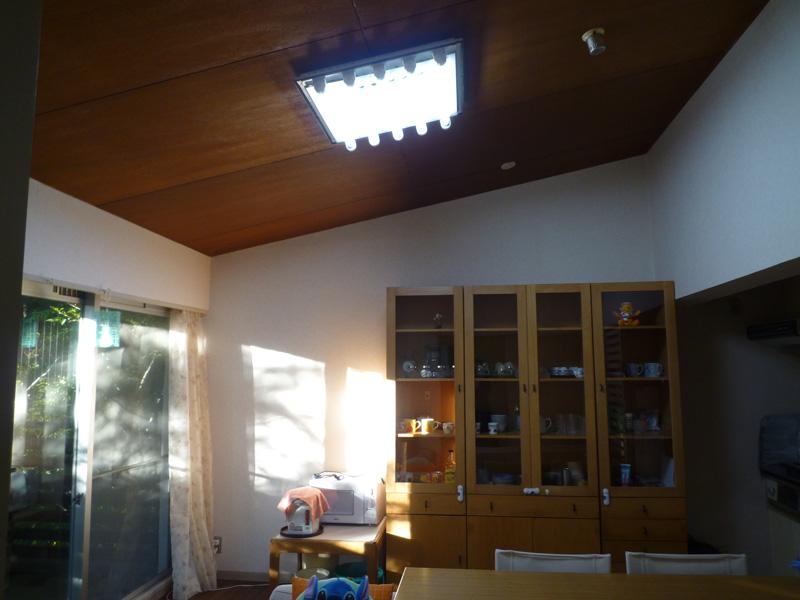 リビングと洋室は勾配天井です
