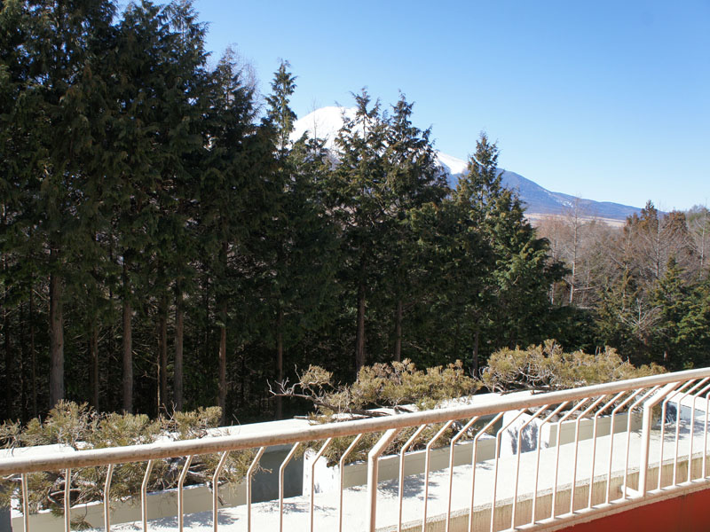 お部屋から少し富士山を望めます