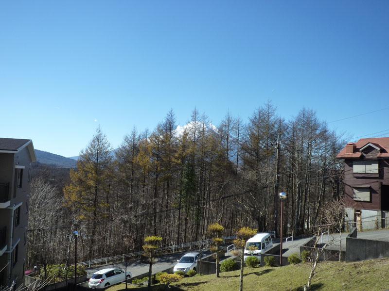 お部屋から富士山が少し見えます
