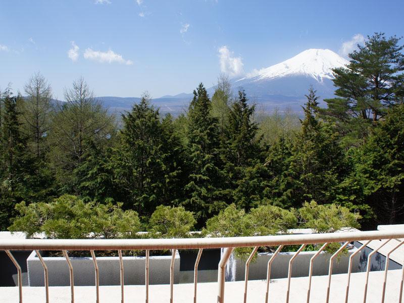 お部屋から富士山を望みます