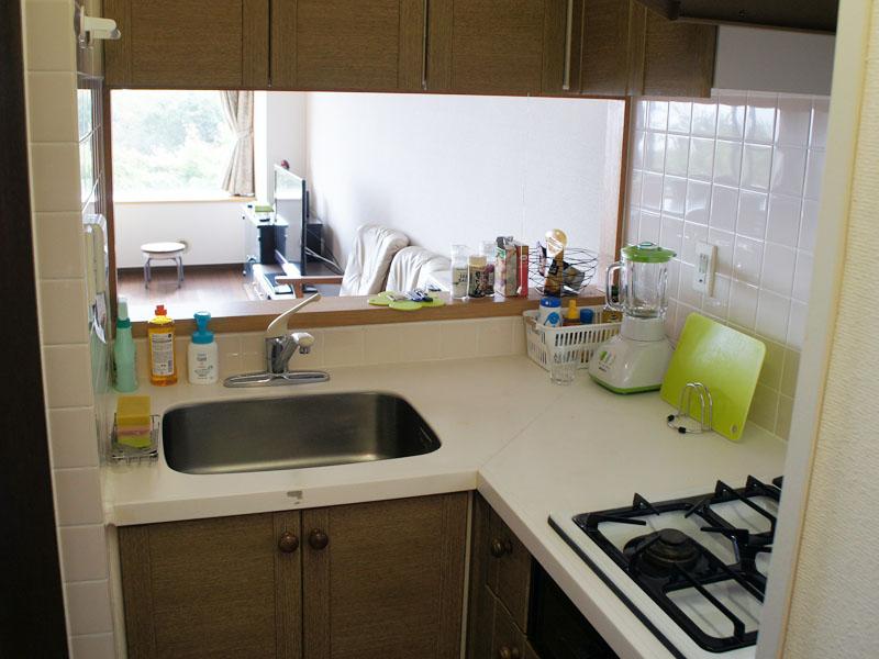 対面式 L字型のキッチン