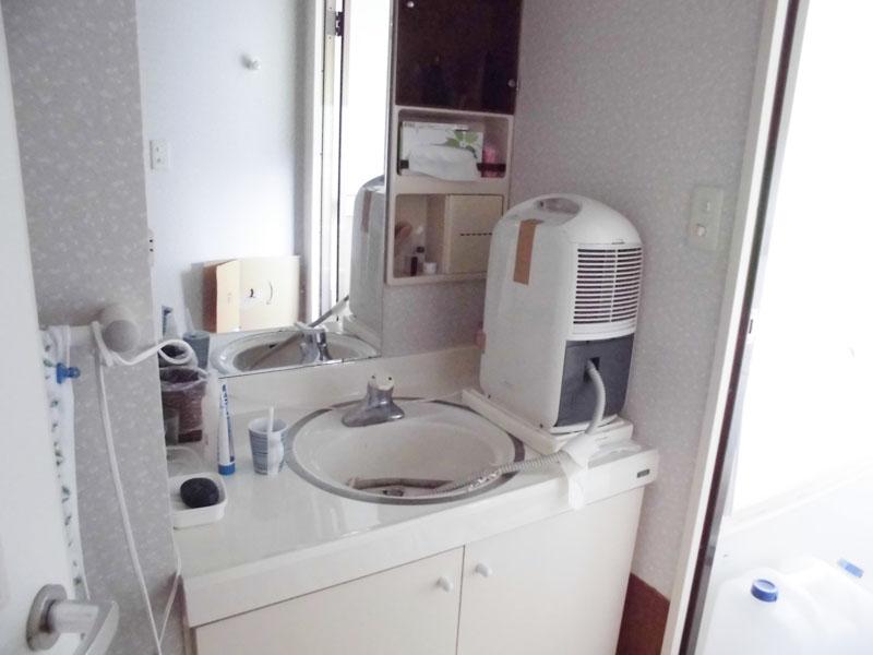浴室側の洗面