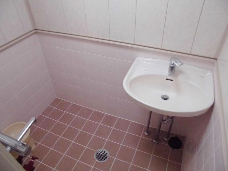 シャワー室 洗面台