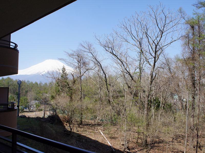 バルコニーから左手に富士山が見えます