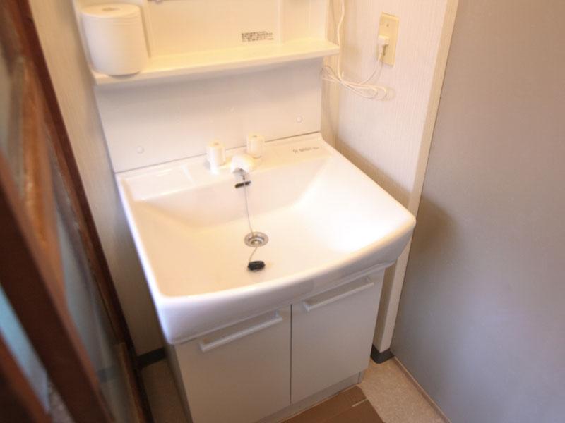 洗面台も交換済み