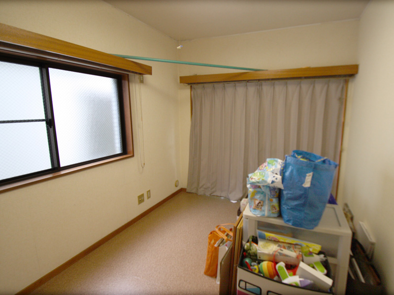 2面採光の洋室