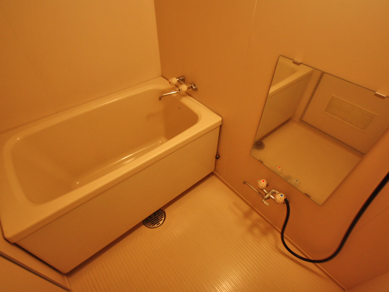 温泉引き込みの浴室