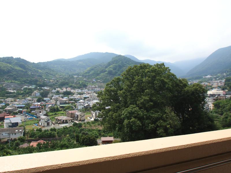 バルコニーから右手の景色は幕山・城山・大観山など自然たっぷり