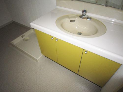 洗濯機置き場付き洗面室