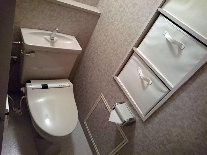 温水シャワートイレ取付済